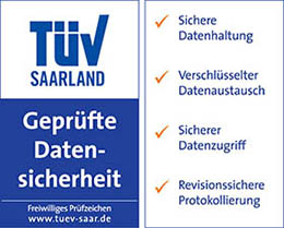 TÜV-Siegel Datensicherheit